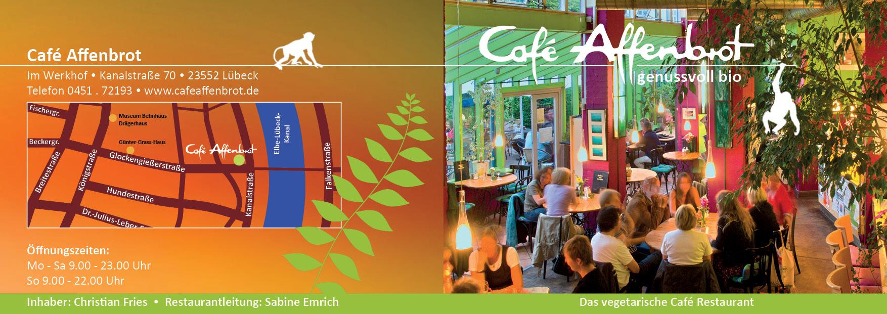 Cafe Affenbrot, flyer