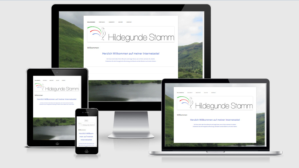 Website hildegundestamm.de