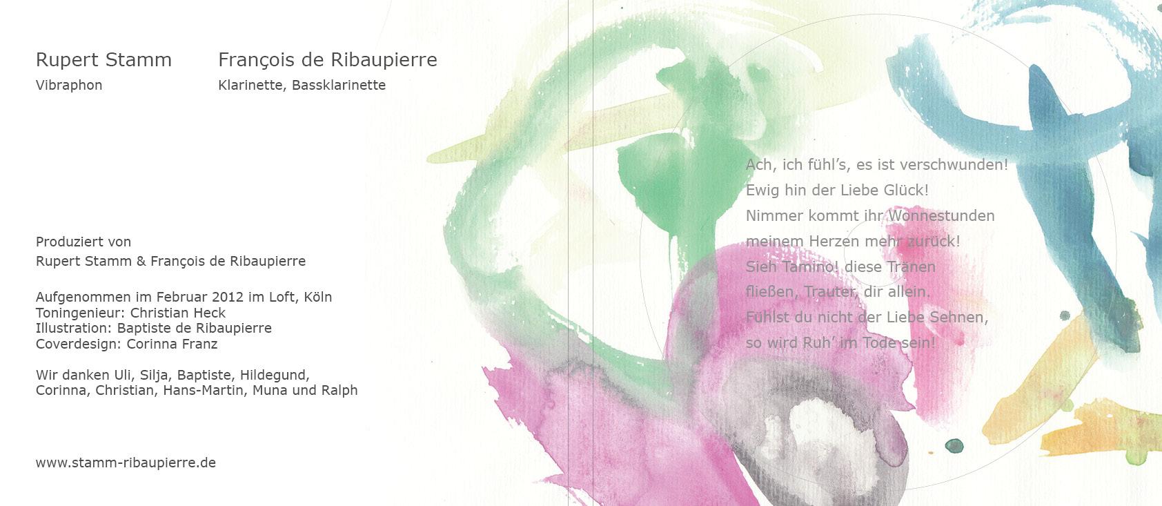 CD Cover, Ruper Stamm und François de Ribaupierre